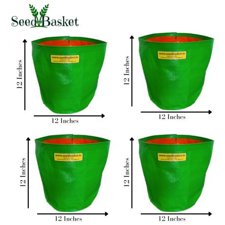HDPE Grow Bag 12X12 (Pack Of Four)